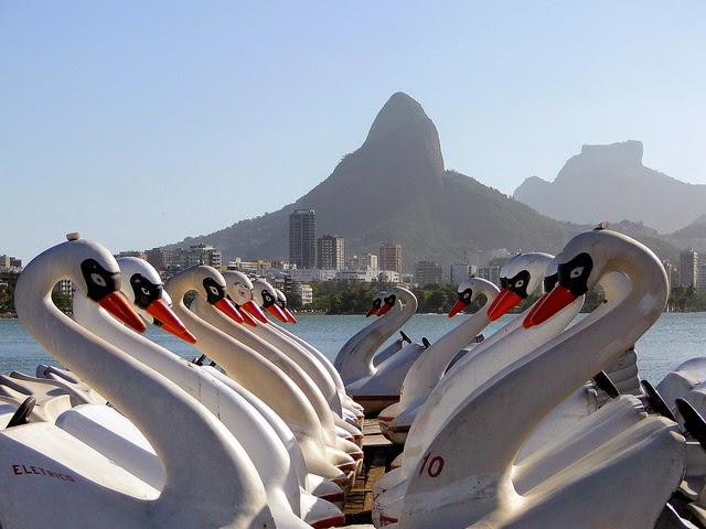 Pedalinhos da Lagoa Rodrigo de  Freitas