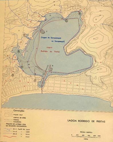 Lagoa Rodrigo de Freitas em 1965