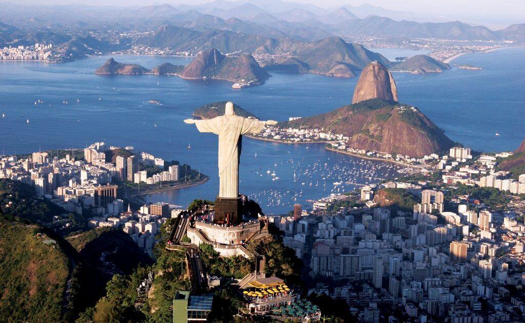 Vista do Cristo Redentor no Rio de janeiro